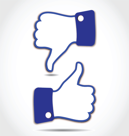 facebook: Like and Unlike, Thumps up and Thumps down Illustration