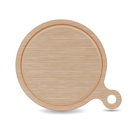 wooden board: Isolated Cutting board, White Oak Wood Pizza Tray with Handle Illustration