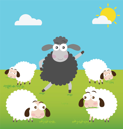 Black Sheep withmake a difference Illustration