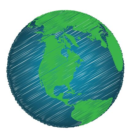 earth map: Earth Sketch Hand Draw Focus North America Continent, Credit World Map of Nasa