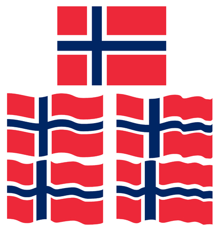 stoke: Flat and Waving Flag of Norway Country