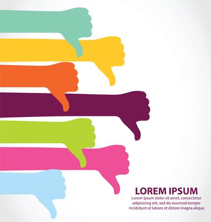 thumps up: Creative Colorful Thumb Down Symbol