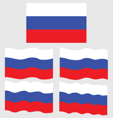 eec: Flat and Waving Flag of Russia Country Illustration