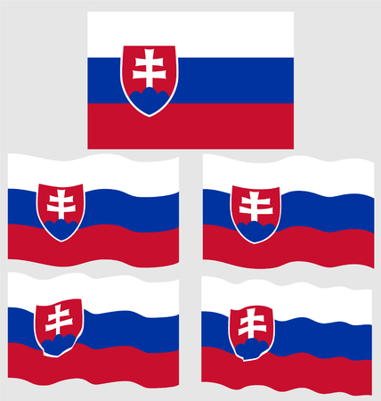 eec: Flat and Waving Flag of Slovakia Country Illustration