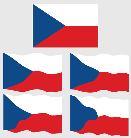 eec: Flat and Waving Flag of Czech Republic Country