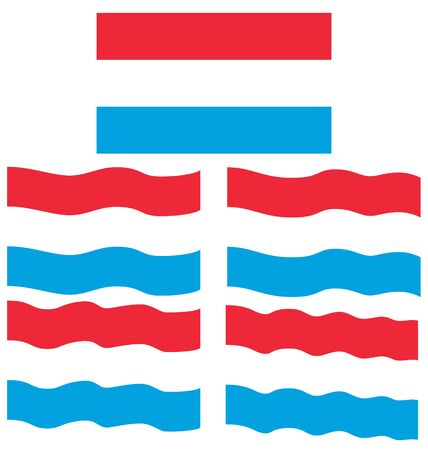 eec: Flat and Waving Flag of Luxembourg Country