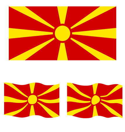 eec: Flat and Waving Flag of Republic of Macedonia Country