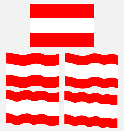 eec: Flat and Waving Flag of Austria Country Illustration