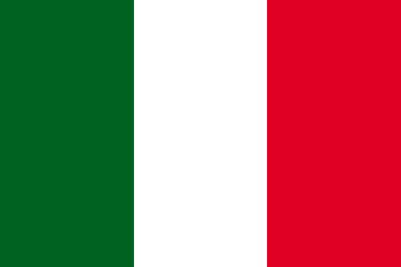 Standard Proportions for Italy Flag Country Illustration