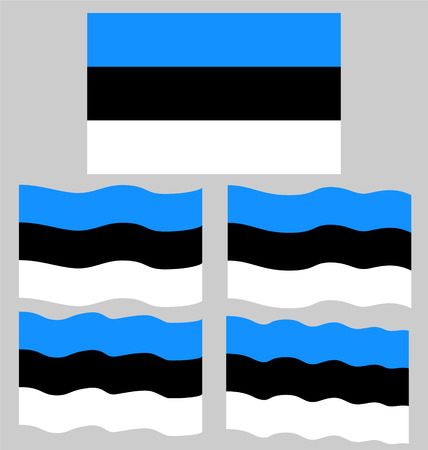 eec: Flat and Waving Flag of Estonia Country