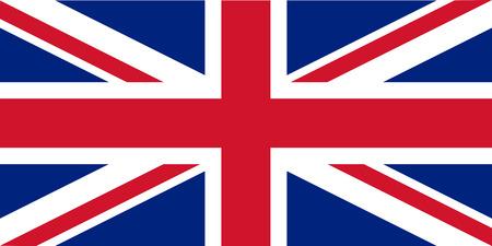 drapeau anglais: Proportions standard pour la République du Royaume-Uni Illustration