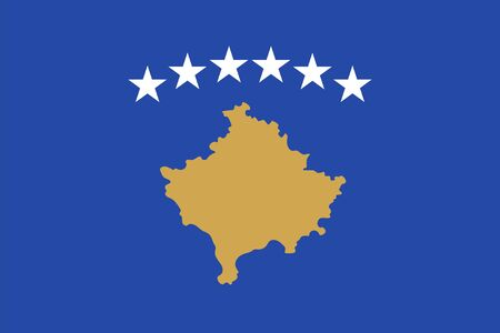 kosovo: Standard Proportions for Kosovo Flag Country Illustration