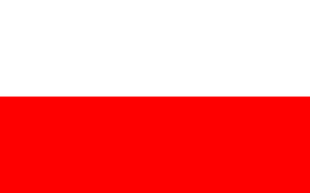 poland flag: Standard Proportions for Poland Flag Country Illustration
