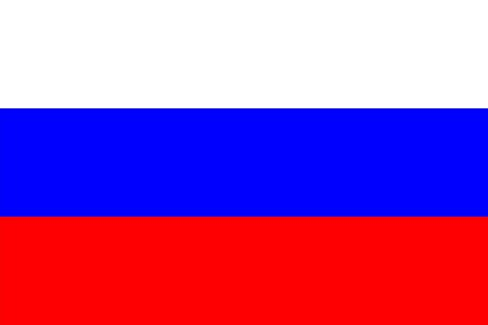 russia flag: Standard Proportions for Russia Flag Country Illustration