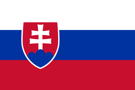 Standard Proportions for Slovakia Flag Country