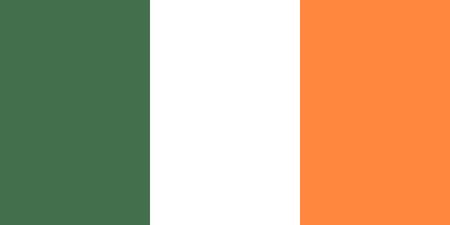 Standard Proportions for Ireland Flag Country Illustration