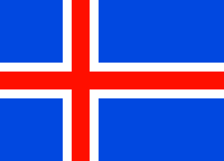 iceland flag: Standard Proportions for Iceland Flag Country Illustration