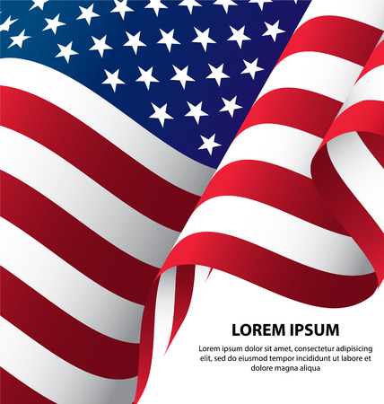 stars and stripes background: The USA Waving Flag Background, Clipping Mask