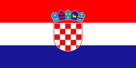 Standard Proportions and color for Croatia Flag Stock Illustratie