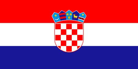 national flag: Standard Proportions and color for Croatia Flag Illustration