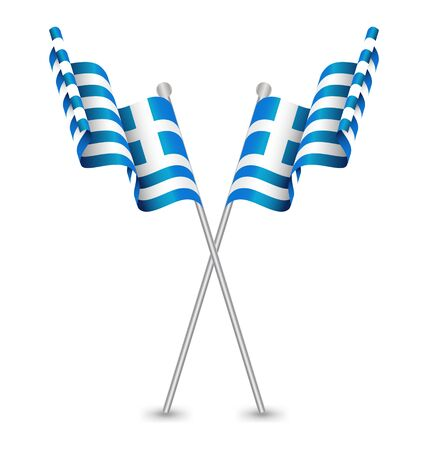 republic: Greece Hellenic Republic Waving Flag Illustration