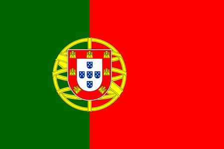 drapeau portugal: Norme Proportions et la couleur pour le Portugal Drapeau Illustration