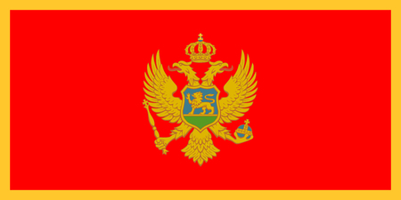 proportions: Standard Proportions and Color for Montenegro Flag