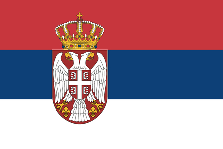 serbia: Standard Proportions and Color for Serbia Flag