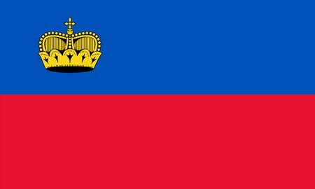 proportions: Standard Proportions and Color for Liechtenstein Flag Illustration