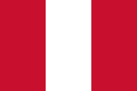 republic of peru: Standard Proportions and Color for Peru Flag Illustration