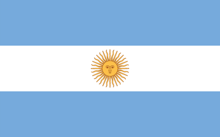 argentina flag: Standard Proportions and Color for Argentina Flag Illustration