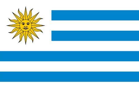 bandera de uruguay: Las proporciones est�ndar y el color de la bandera de Uruguay