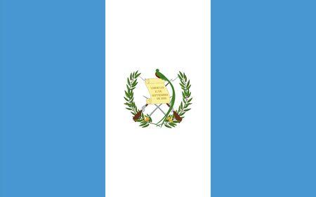 bandera de guatemala: Las proporciones est�ndar y el color de la bandera de Guatemala Vectores