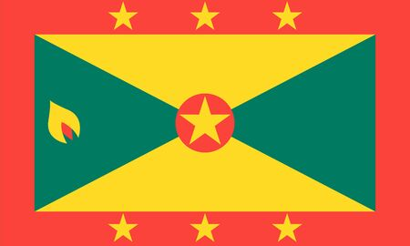 proportions: Standard Proportions and Color for Grenada Flag Illustration