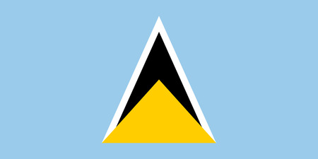 proportions: Standard Proportions and Color for Saint Lucia Flag