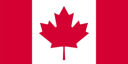 canadian football: Standard Proportions and Color for Canada Flag