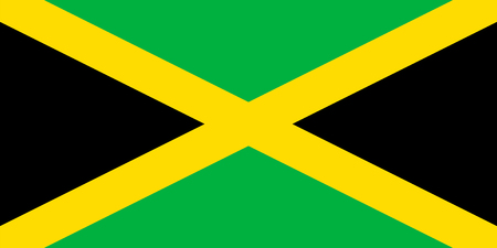 jamaica: Standard Proportions and Color for Jamaica Flag Illustration