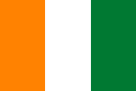 coast: Standard Proportions and Color for Ivory Coast Flag