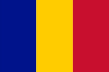 chad flag: Standard Proportions and Color for Chad Flag Illustration