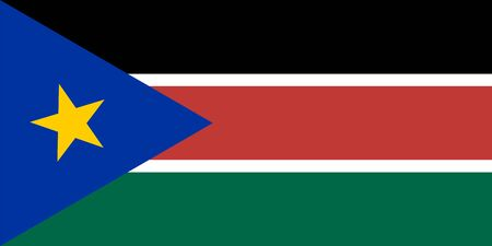 south sudan: Standard Proportions and Color for South Sudan Flag