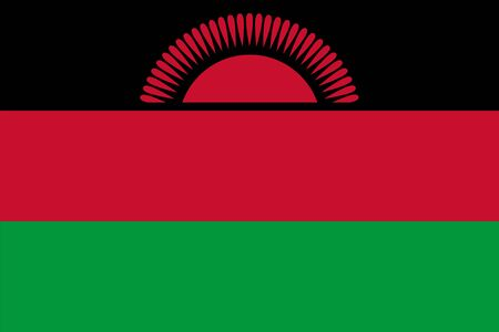 malawi flag: Standard Proportions and Color for Malawi Flag Illustration
