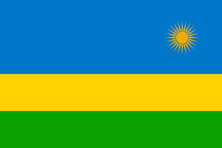 Standard Proportions and Color for Rwanda Flag