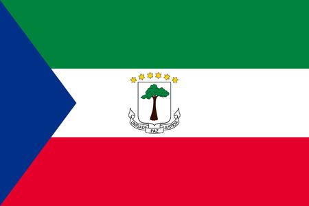 equatorial: Standard Proportions and Color for Equatorial Guinea Flag