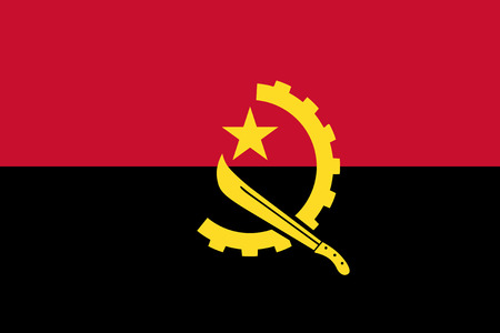 angola: Standard Proportions and Color for Angola Flag