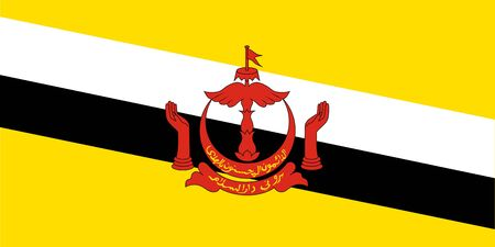 Standard Proportions and Color for Brunei Darussalam Flag