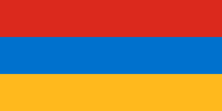 yerevan: Standard Proportions and Color for Armenia Flag Illustration