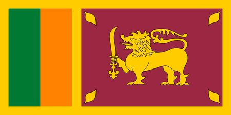 proportions: Standard Proportions and Color for Sri Lanka Flag