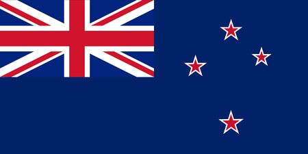 new zealand flag: Standard Proportions and Color for New Zealand Flag Illustration