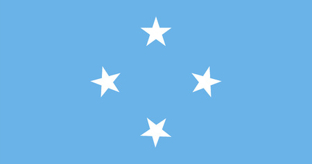 micronesia: Standard Proportions and Color for Micronesia Flag