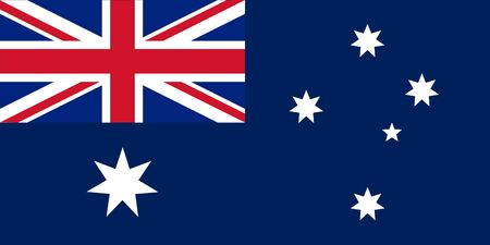 Standard Proportions and Color for Australia Flag